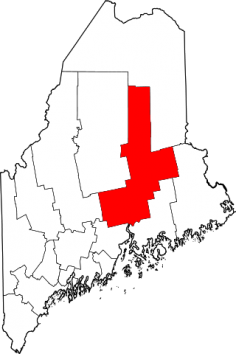 Lage des Counties in Maine
